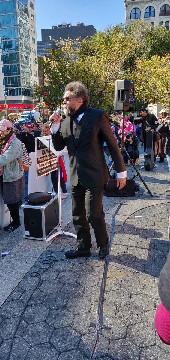 @DanRather .@CornelWest was at #outnow protests today... Every American should join him, @RefuseFascism and others. Every Saturday in the streets until Trump and Pence are #outnow.