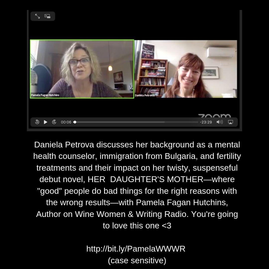 You're going to love Daniela Petrova!  #podcast #videocast #authorinterview #authorsontheair #authortoauthor #danielapetrova #herdaughtersmother #psychologicalsuspense #psychologicalthriller #crimefiction <br>http://pic.twitter.com/QpcvTiWwFS