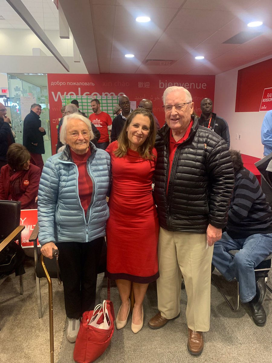 Lovely surprise to see my Great-Uncle Don and Great-Aunt Sylvia today at @R_Boissonnault's campaign office!