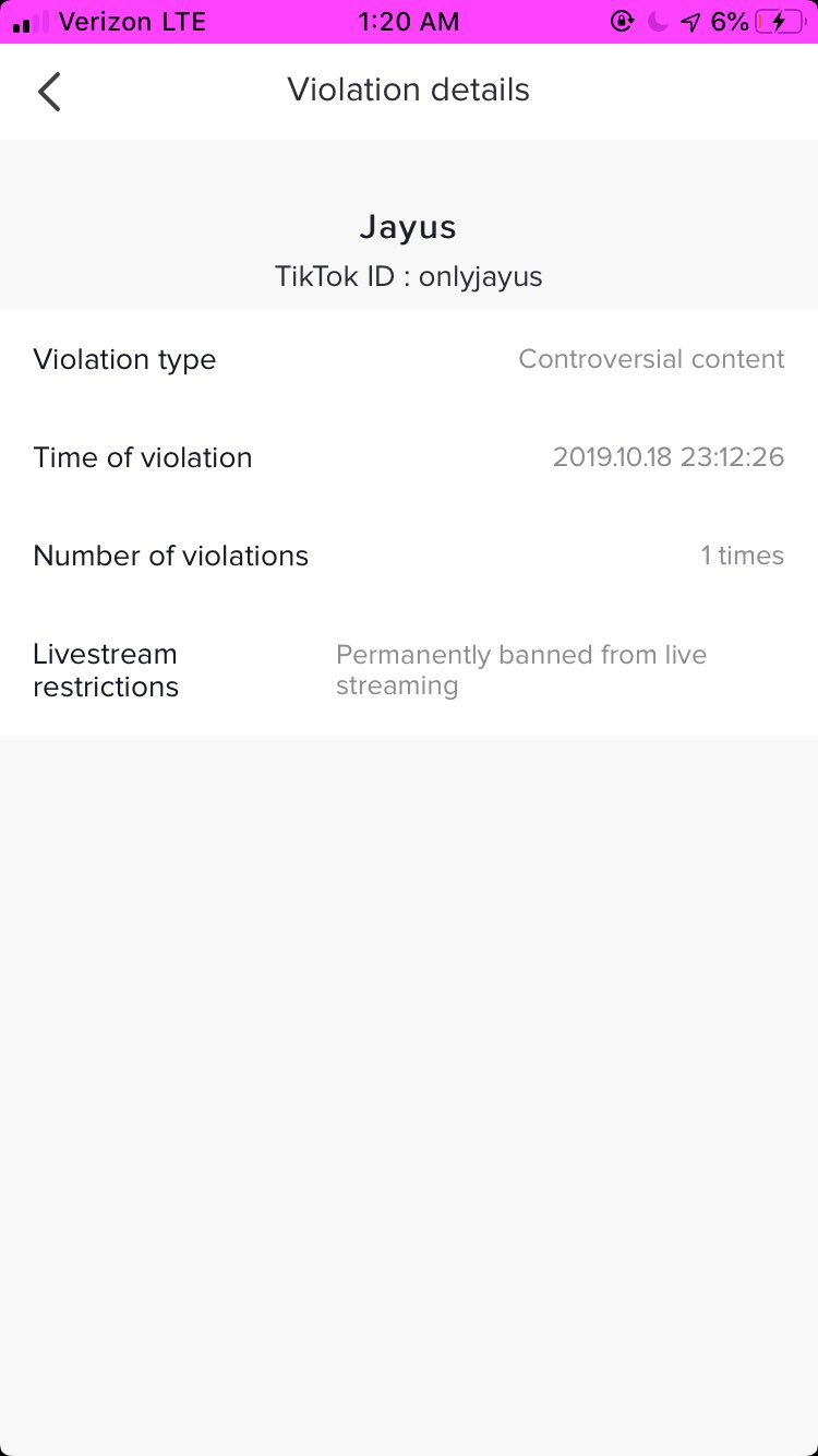 Onlyjayus On Twitter Tik Tok Permanently Banned Me From Live Streaming And I Have No Clue Why It S Been Almost 24 Hours Since I Contacted Every Support Email I Could Find Tweeted