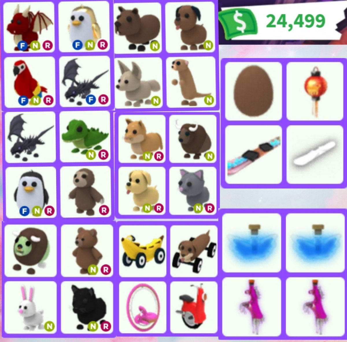 Robloxtrades Hashtag On Twitter - i only traded neon pets for 24 hours in adopt me roblox adopt me