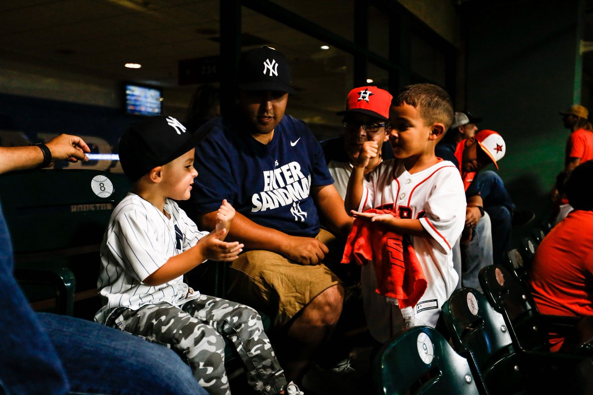 Tensions are rising between two young fans in Houston.