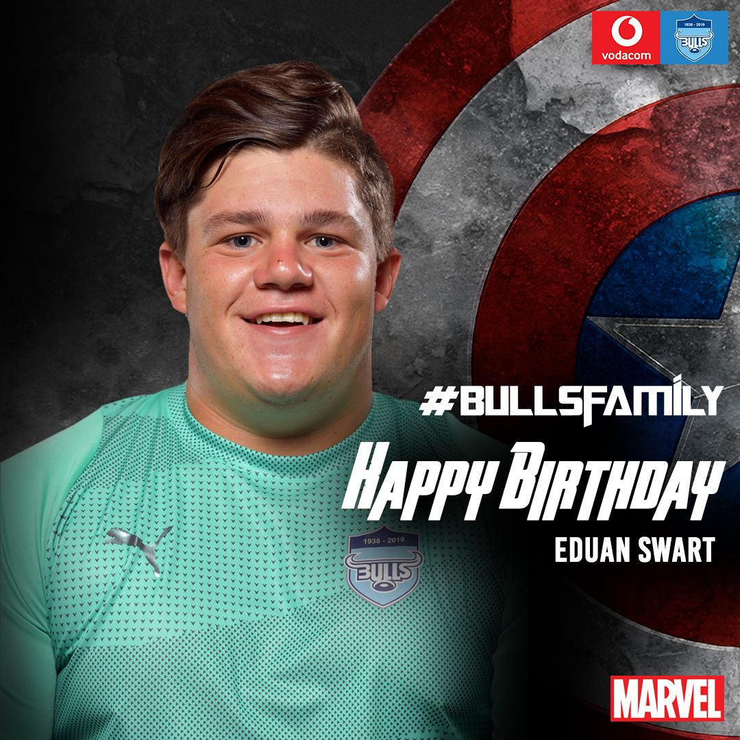 The Vodacom Bulls would like to wish Eduan Swart a very happy birthday. We hope that this year is filled with great memories. Enjoy your special day. #BullsFamily
