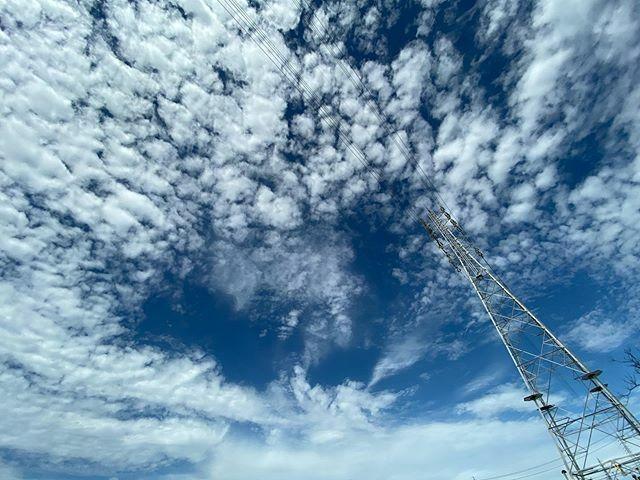 #イマソラ #いまそら #ノンフィルター #ノーフィルター #青空 #あおぞら #bluesky #空 #そら #sky #雲 #くも #cloud #clouds #鉄塔 #steeltower #pylon