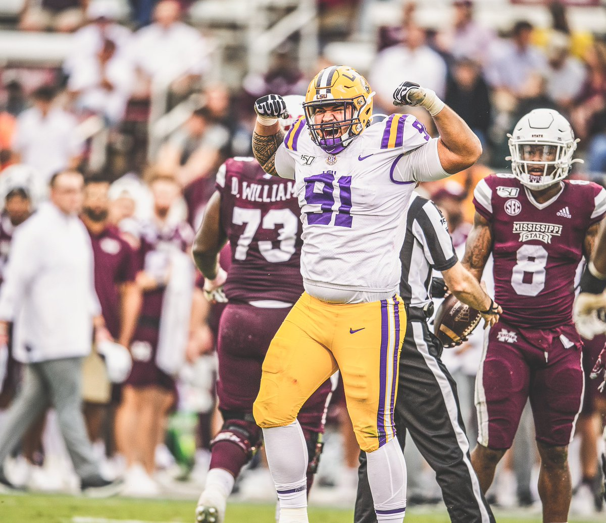 Dark 🐎 ! 7-0 Thank God, thank my family, & it's always forever LSU.