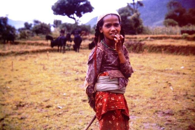 1967, Ghachok, Kaski. Oldest child of headmaster of Ghachok's elementary school. She quit school to help with household chores.