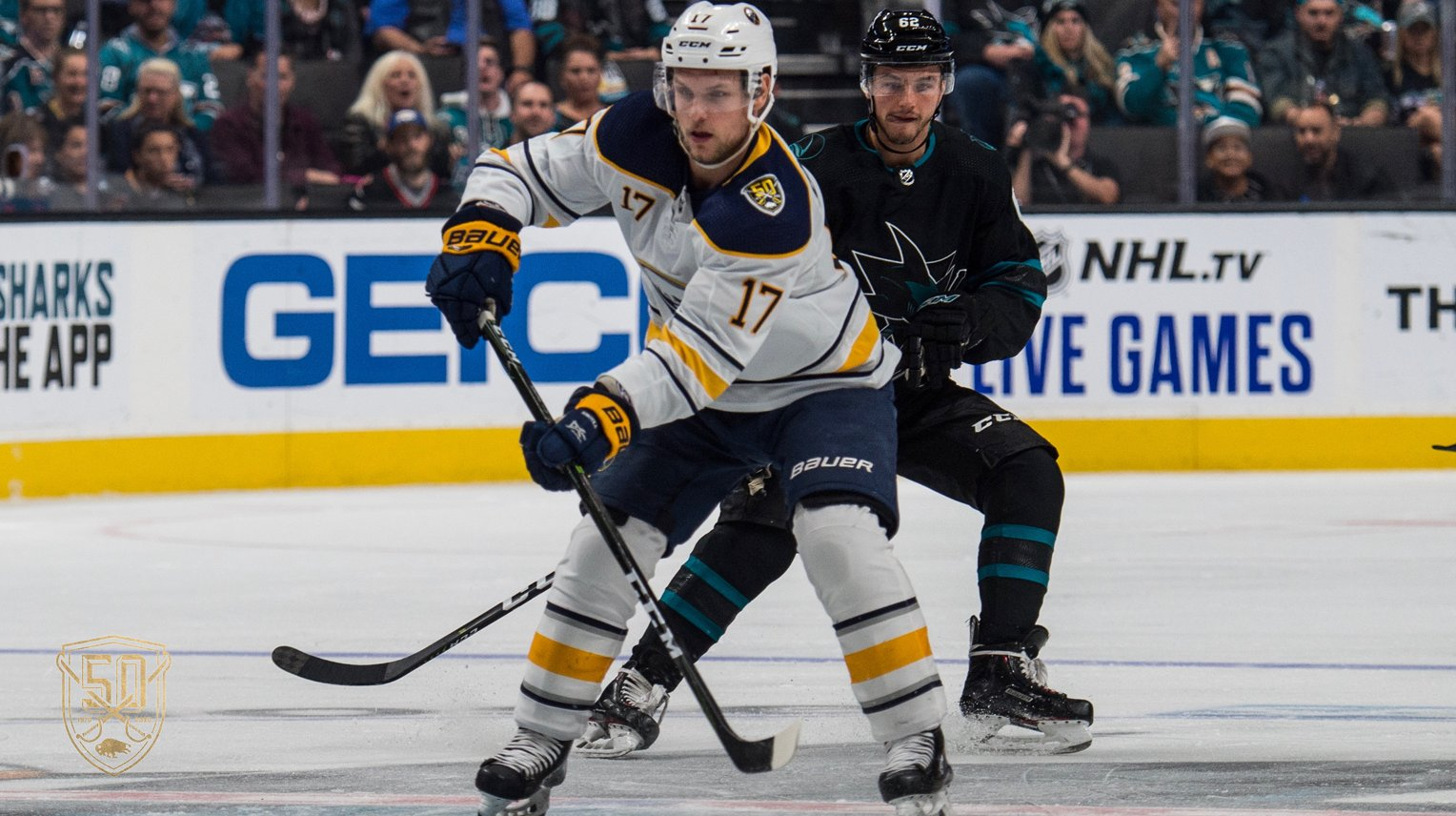 Sabres defeat Sharks, 4-3