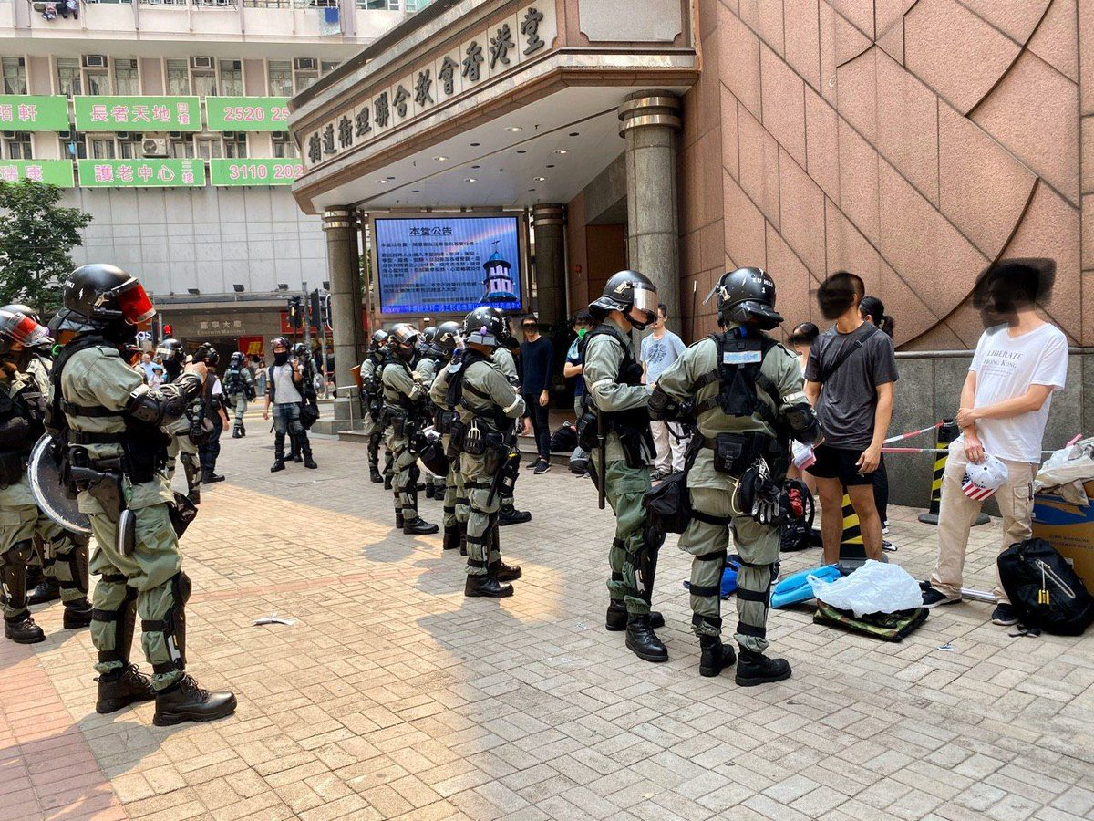 @chrf_hk Not surprise they do this, #HKPolice have the same values as CCP, they don't respect religious #antichinazi https://t.co/Lkgodhgtwc