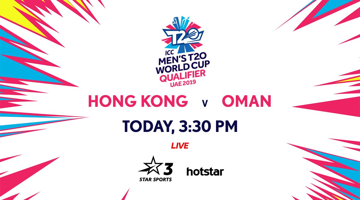 Oman are looking to make it 2⃣ for 2⃣ in the ICC #T20WorldCup Qualifers and they're going up against a keen Hong Kong side!Don't miss the action, LIVE!