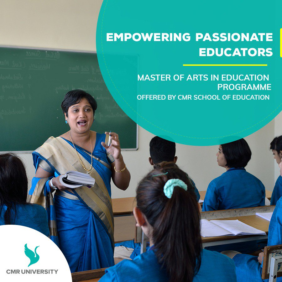 At CMR University, Master of Arts in Education programme is aimed at helping future educators be highly effective, relevant and completely empowered to facilitate learners achieve their full potential.Know more @ http://www.cmr.edu.in/schools/school-of-education/about-the-programme/ … #CMRUniversity #education