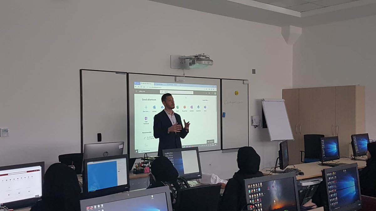 Bassell Ajlani, Education Solution Specialist, at Microsoft, discusses Office pro plus features and the latest interactive Office propels features in the classroom and how these will support digital education at #Microsoft #EduDay. #MicrosoftEdu @BassellAj @MOE_UAETraining