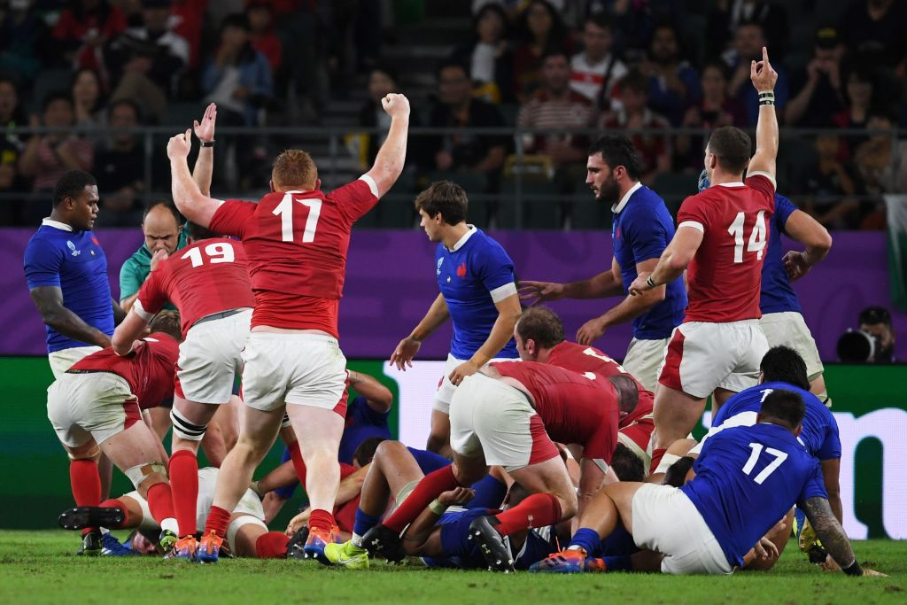 FT: Wales 20-19 FranceThey trailed for almost the entire game, but took the lead when it mattered! Wales through against 14-man France. Japan or South Africa await for a place in the @rugbyworldcup final!Live reaction: http://bbc.in/2P2JYXq#bbcrugby #WALvFRA