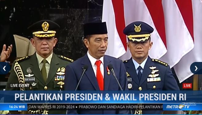 Pidato Pertama Ir Joko widodo selaku Presiden RI periode 2019-2024. #LiveEvent #CongratsJokowiMarufAmin @Metro_TV http://metrotvnews.com/live