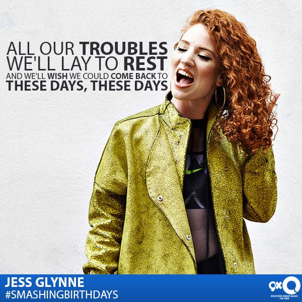 Jess Glynne celebrates her today! Happy Birthday Jess!