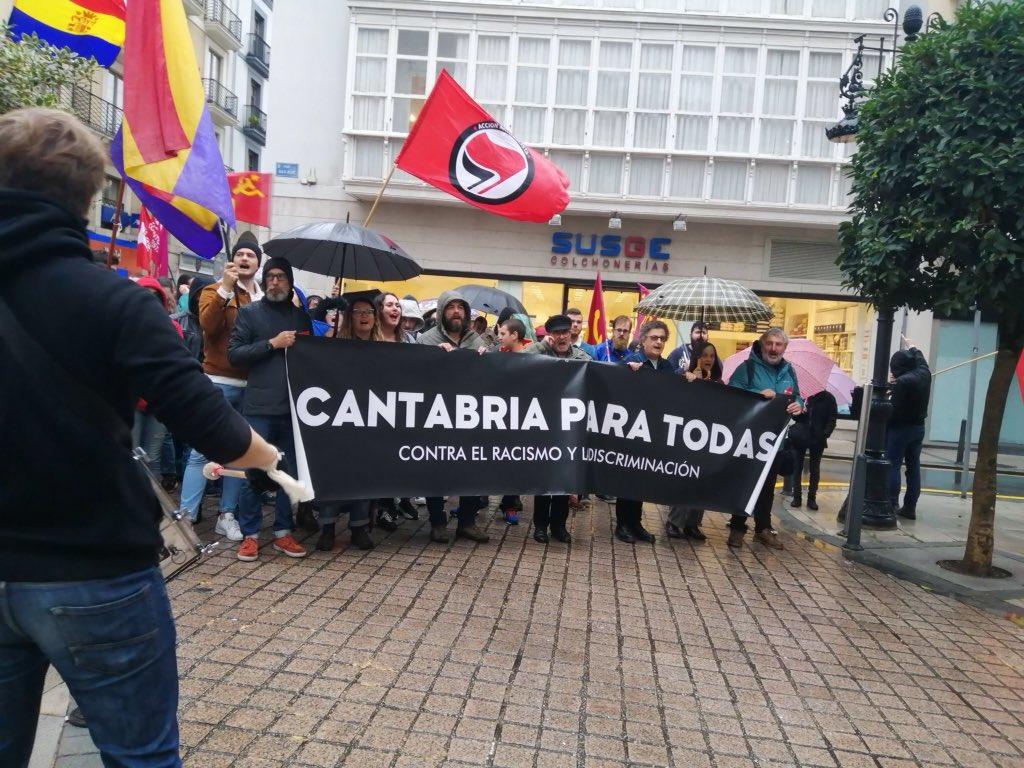 La alcaldesa de #Santander Gema Igual guarda silencio ante las agresiones nazi-fascistas de ayer a la tarde en la ciudad