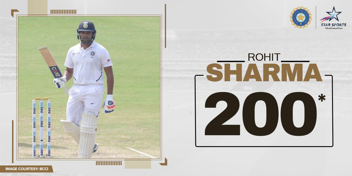 Prepare for trouble and make it double! 😏Congratulations on the first Test 200, @ImRo45! 🙌🏏: 3rd Test, Paytm Freedom Trophy #INDvSA⌛: NOW📺: Star Sports and Hotstar