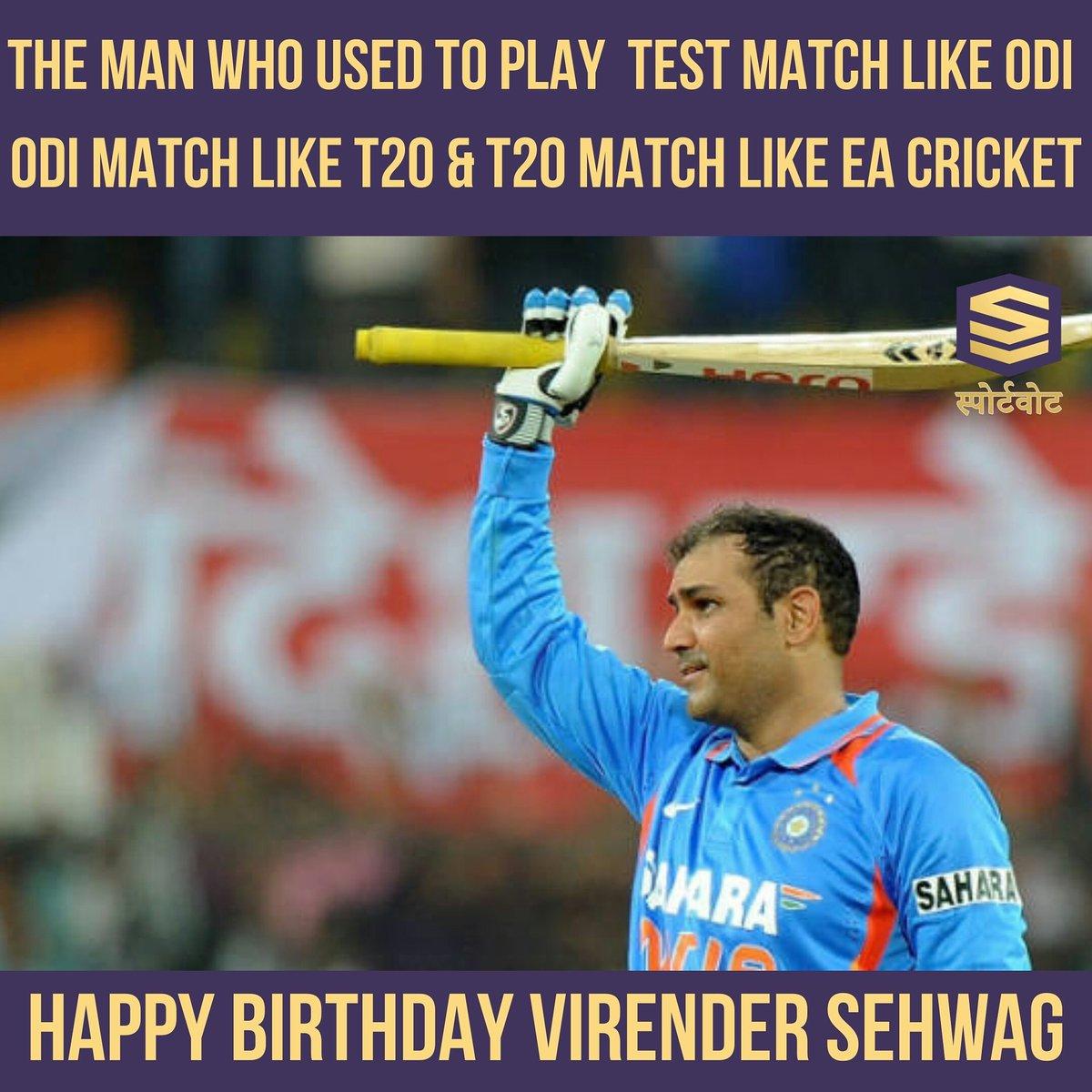 Happy Birthday @virendersehwag @sportvot #virendersehwag #cricket #viratkohli #rohitsharma #sachintendulkar #yuvrajsingh #msdhoni #sachin #sportsjazba #indvspak #klrahul #souravganguly #msd #sureshraina #indiancricket #HappyBirthdayViru #HappybirthdaySehwag #teamindia