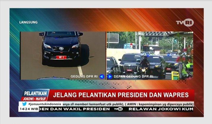 Situasi di depan gedung DPR-MPR RI, jelang pelantikan Presiden dan Wapres RI #jomauntukindonesia https://t.co/1ZbcFCk1Wz