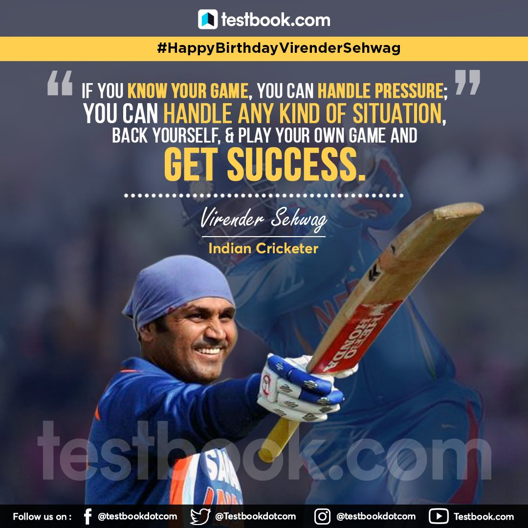 Wishing the former Indian cricketer, #VirenderSehwag a very #happybirthday#HappyBirthdayViru #HappybirthdaySehwag #ViruBhai #MondayMotivation #MondayMood #MondayThoughts #TuesdayThoughts #WednesdayWisdom #wednesdaythoughts #WednesdayMotivation  #ThursdayThoughts