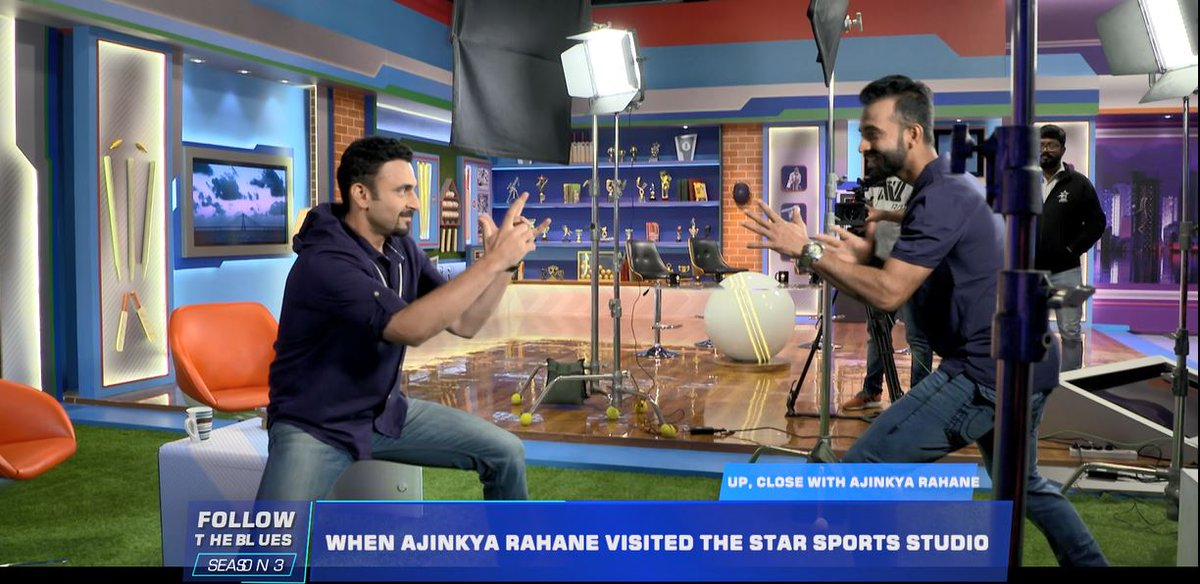 Of jinxes and judo! 🤩Watch @ajinkyarahane88 show off his special skills to @jatinsapru, share his black belt memories and more on:🏏: #FollowTheBlues⏳: End of day's play today📺: Star Sports 1/1HD/1Hindi/1HD Hindi