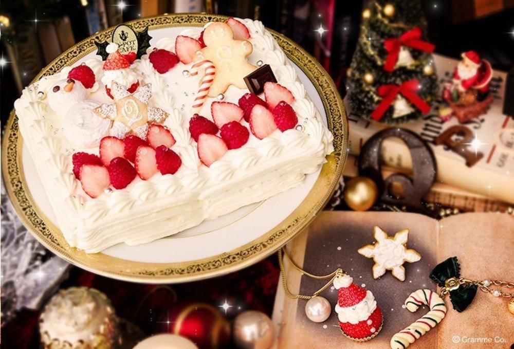 """Q-pot CAFE.「お菓子の国の物語」のクリスマスケーキ&""""くま王子""""の新感覚ケーキパフェ -"""