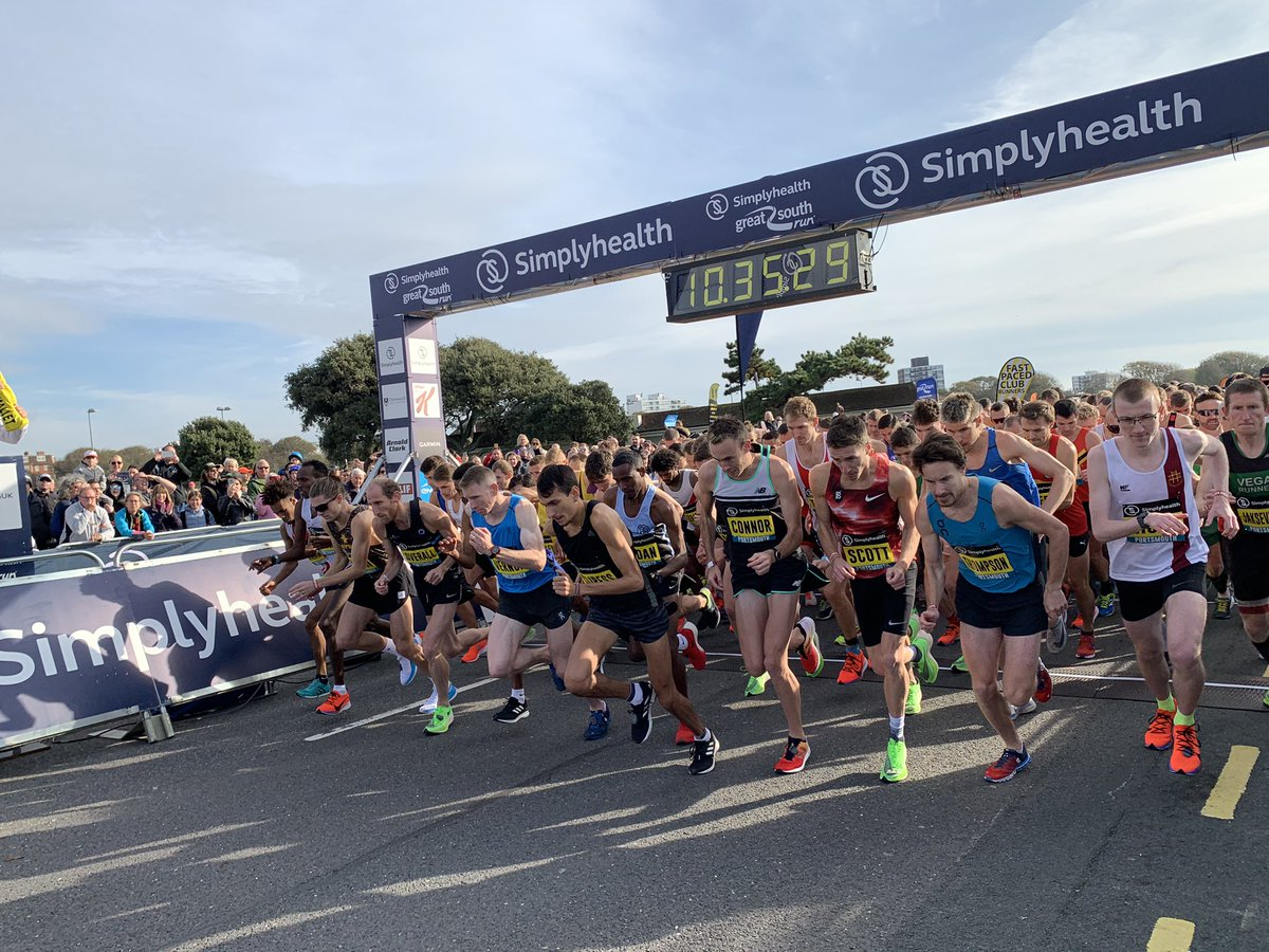 A great start for the elite men! #GreatSouthRun