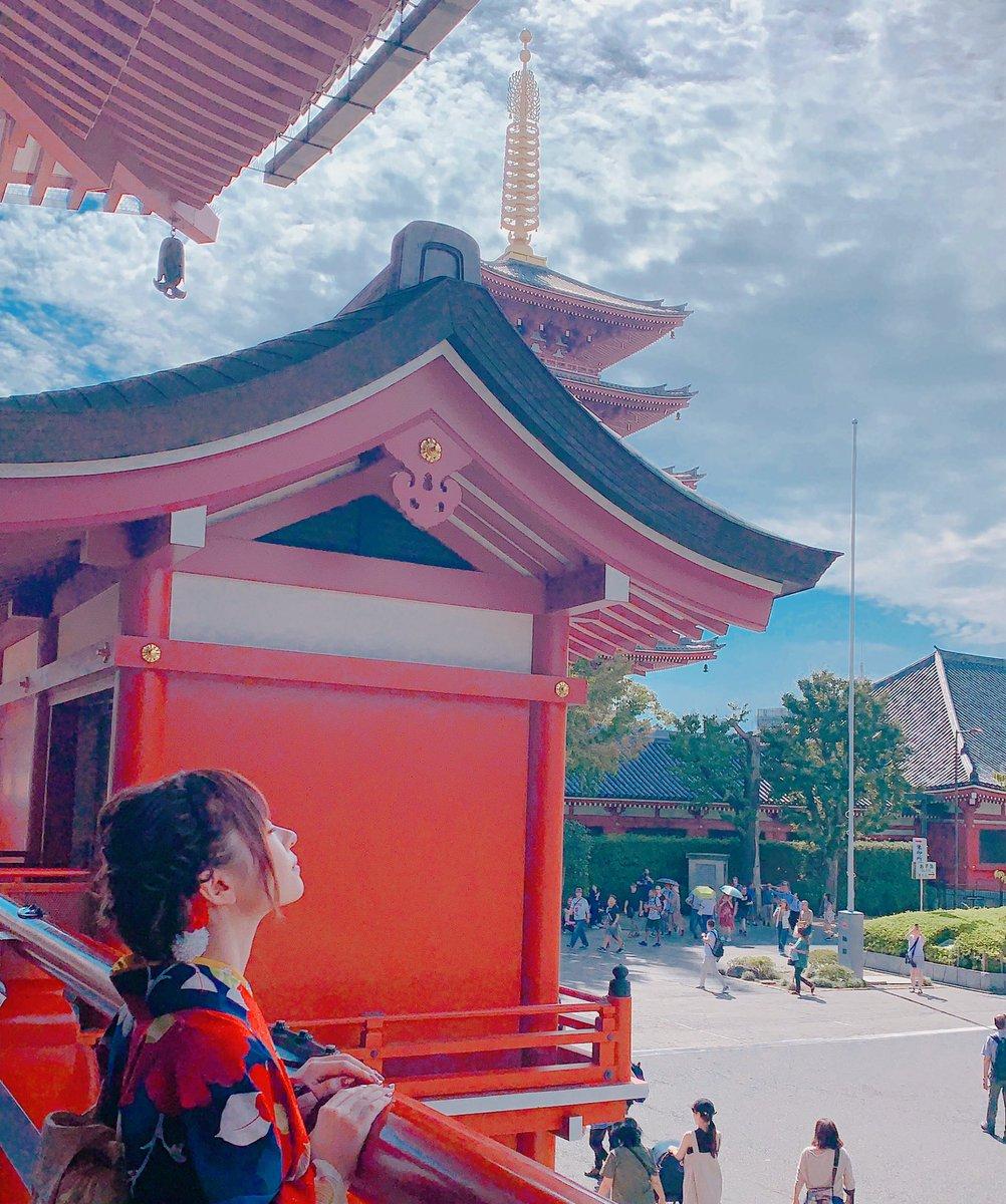 東京で1番好きな場所!っていうくらい浅草は癒されるスポット🕊美味しいお蕎麦屋さんも行きたかった😭ちなみに着付けは浅草の👘着物レンタルwargoさんでしてもらいました☺️✨
