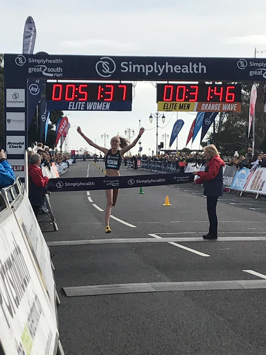 An amazing win for Eilish McColgan #GreatSouthRun