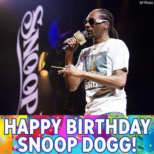 Happy birthday to rap icon Snoop Dogg.