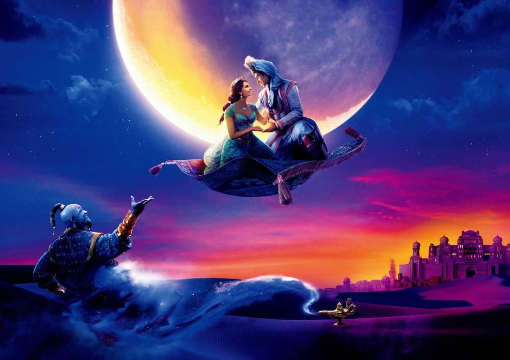 ディズニー映画『アラジン』の楽曲と楽しむイルミネーションショー、カレッタ汐留で開催 -