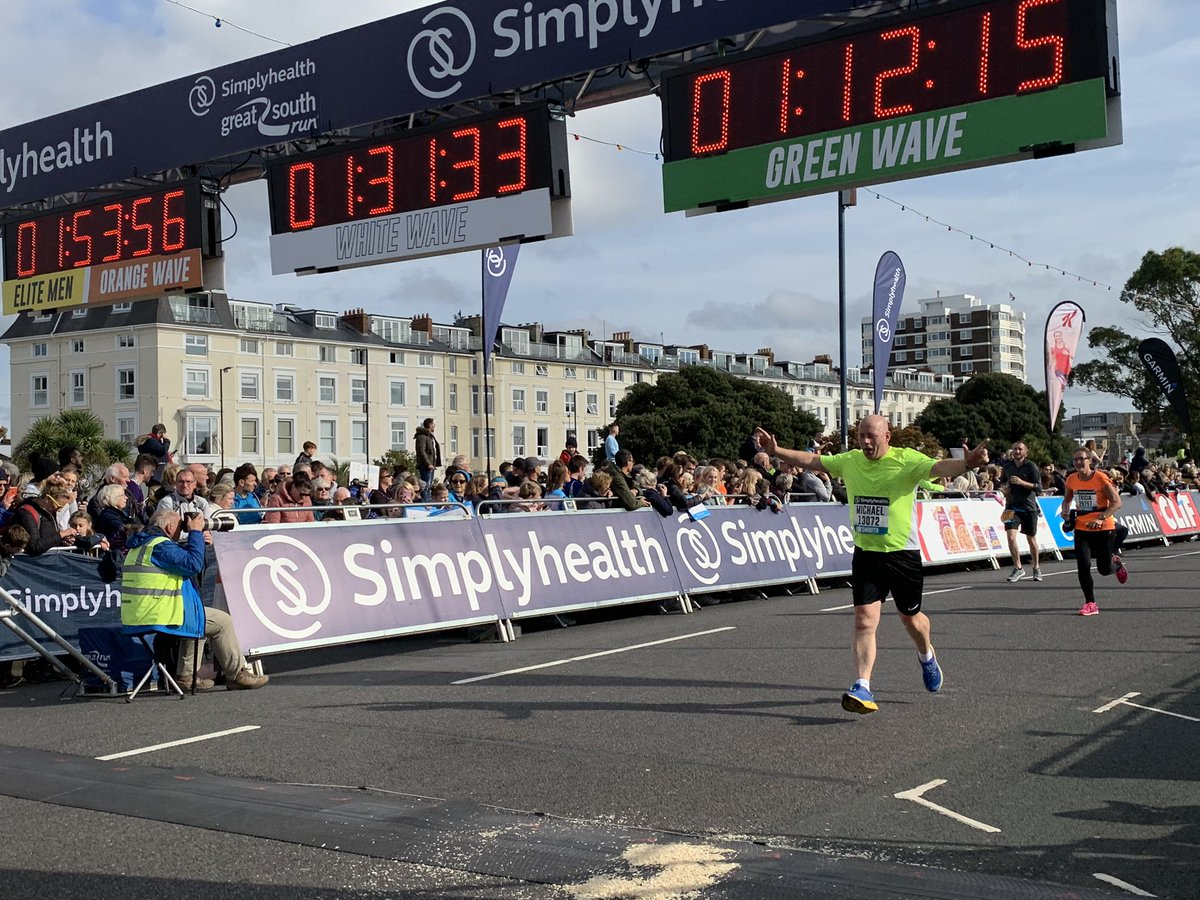 Love that finishing feeling #GreatSouthRun