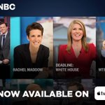 Image for the Tweet beginning: Watch @MSNBC on your AppleTV.