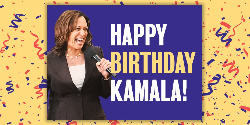 Join #TeamKamala in making sure this birthday is the best one yet!