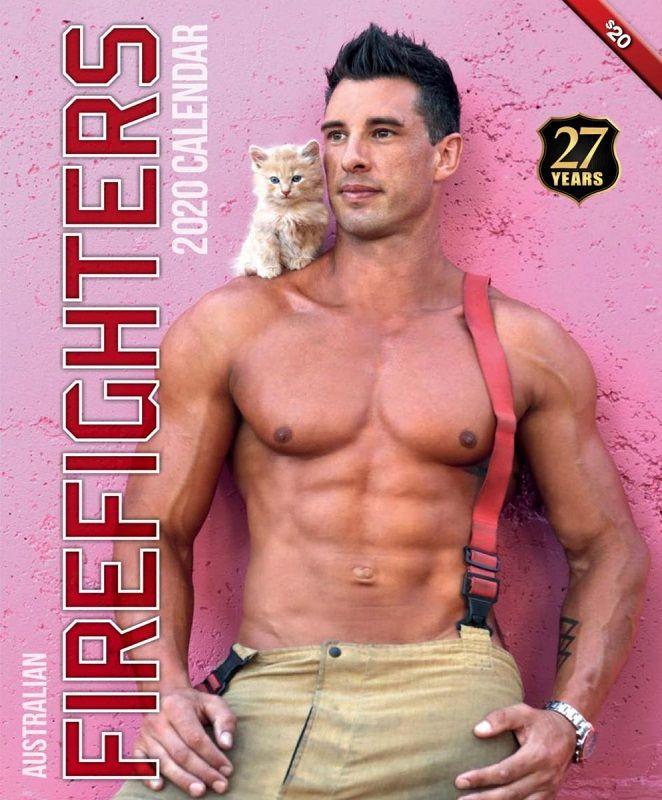 今年もやってきた!イケメン消防士×筋肉×かわいい動物のカレンダー2020年版が発売 @itm_nlabzoo
