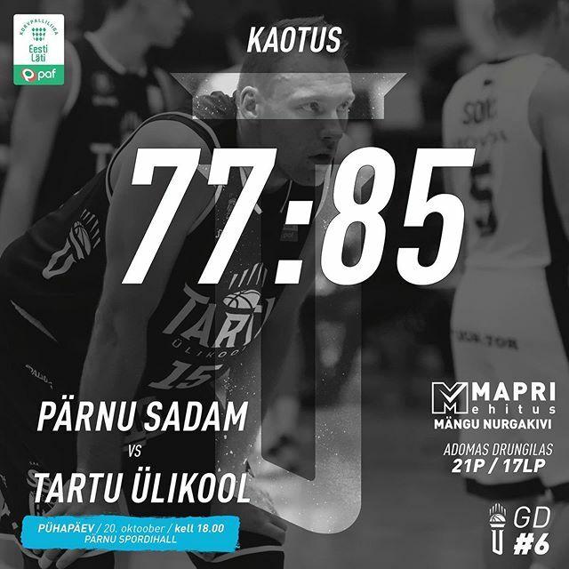 test Twitter Media - Väga konarlikult läheb meil see hooaja algus Paf Latvian-Estonian Basketball Leagues. Täna tuli Pärnus võtta vastu 77:85 kaotus ja seda hoolimata meie liidri Adomas Drungilase väga korralikust esitusest - 21 punkti ja 17 lauapalli.  Tartu Ülikooli meesko… https://t.co/RvGvtKQpJf https://t.co/40DWFmkBJO