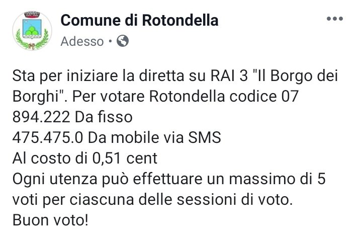 #Rotondella #Basilicata @RaiTre #IlBorgodeiBorghi ...