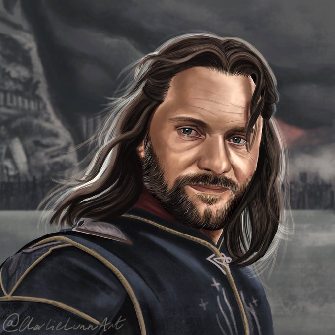 Happy birthday Viggo Mortensen  here s a picture of Aragorn I knocked up from Return Of The King