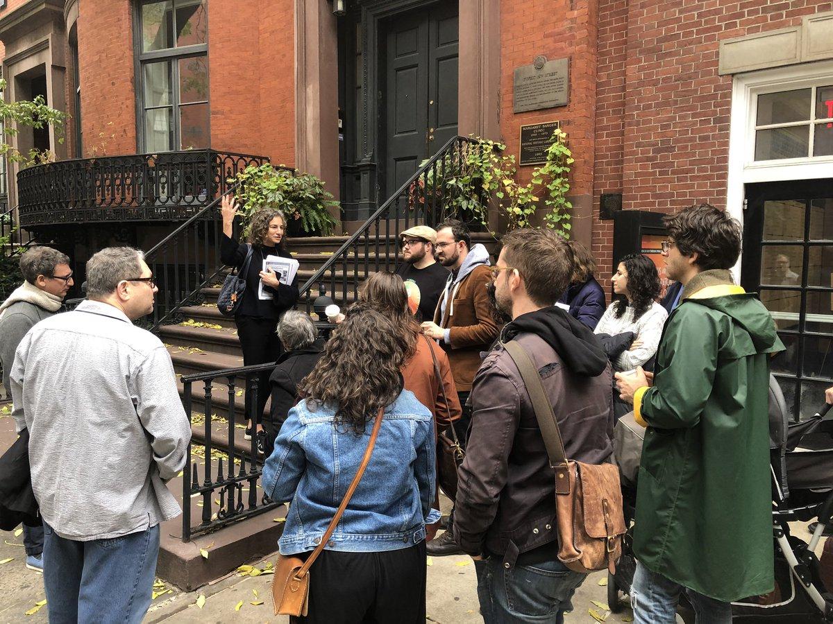 Sunday morning Jewish Radicals walking tour with @AJHSNYC @JewishCurrents