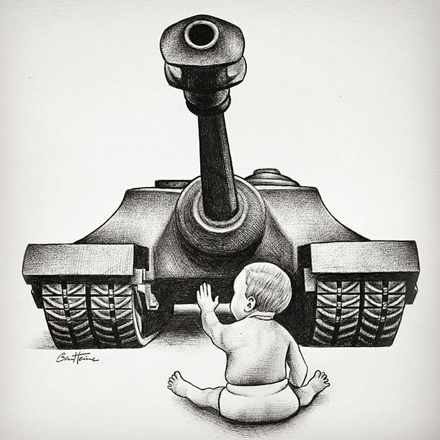 Ben Heine On Twitter No More War Here Is A Drawing I Made Years Ago Ballpoint Pen On Paper I Am Selling My Original Drawings Contact Me If You Are Interested Info Benheine Com