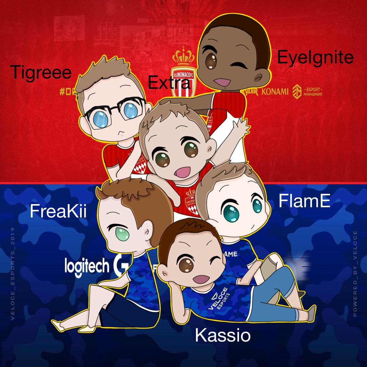 double hype for getting signed and for game day!!! love all of you boys, so unbelievably proud of you!!! @TigreeeRL @Extra_RL @EyeIgnite @FreaKiiRL @Kassio_RL @FlamE_RL @ASMonacoEsports @VeloceEsports