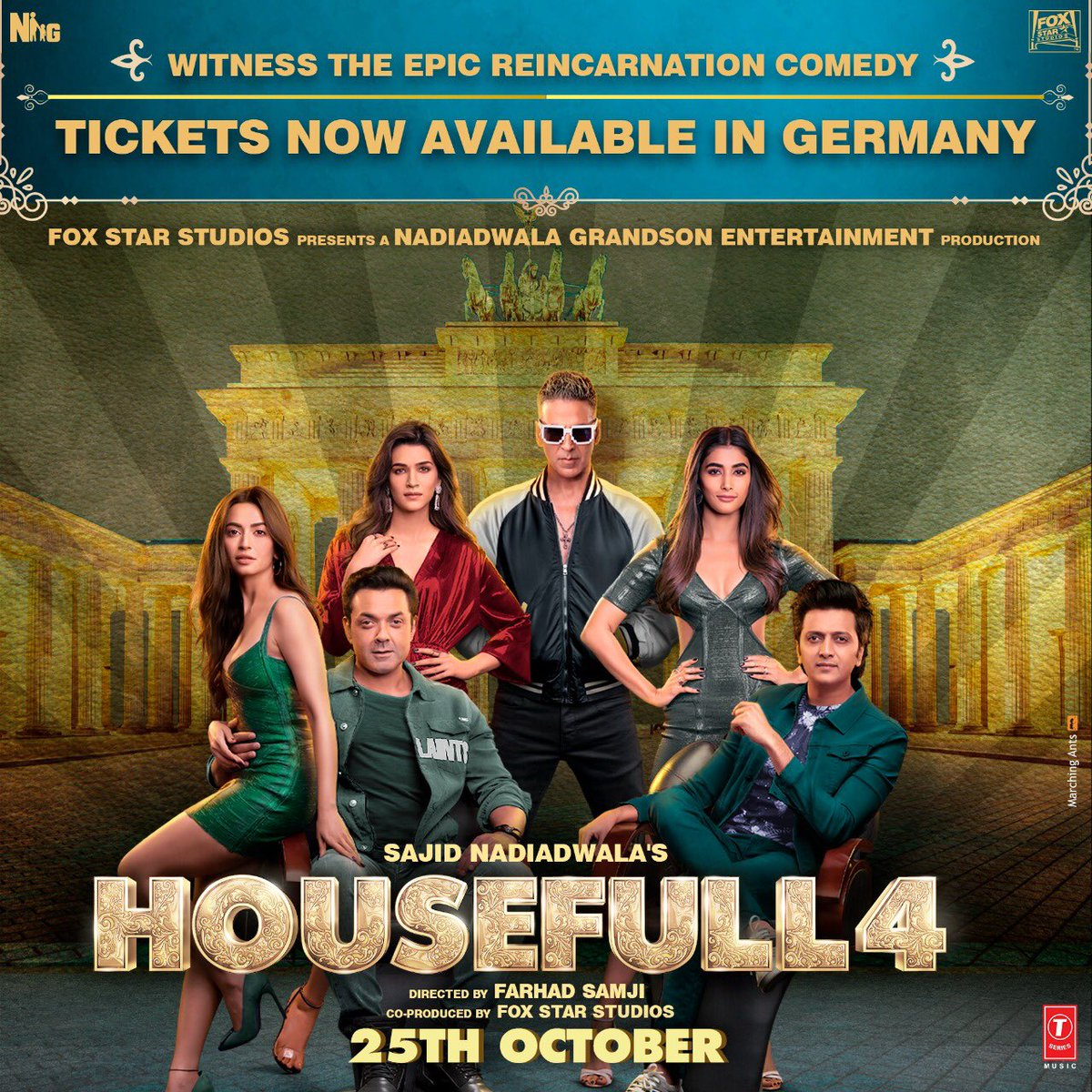 People of Germany get ready for an epic reincarnation comedy. Book your tickets for #Housefull4 and be a part of this hilarious journey. mykinoplex.com