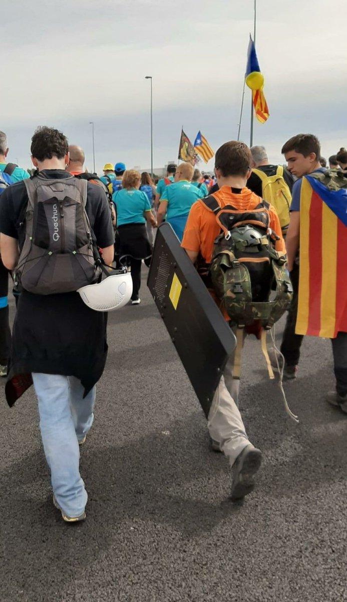 RT @GuajeSalvaje: ¿Quién lleva un escudo metálico a una manifestación