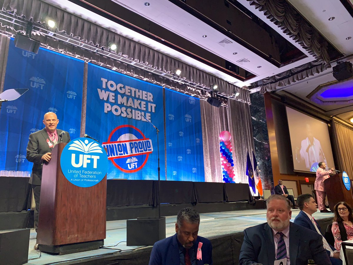 Excited to celebrate @UFT #teacherunionday with Prez Mulgrew and honoring @nysut Prez @AndyPallotta!