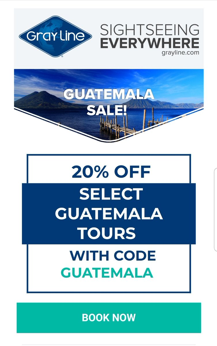 #Guatemala Sale!!! Book and tour with us at http://www.graylineguatemala.com #visitguatemala #Travel #tourism #vacations #mayanworld @VisitGuatemala @visitcentroamer @CATA_AgenciaCA @CarolinaBrion12 @CAMTUR1 @arivaltravel