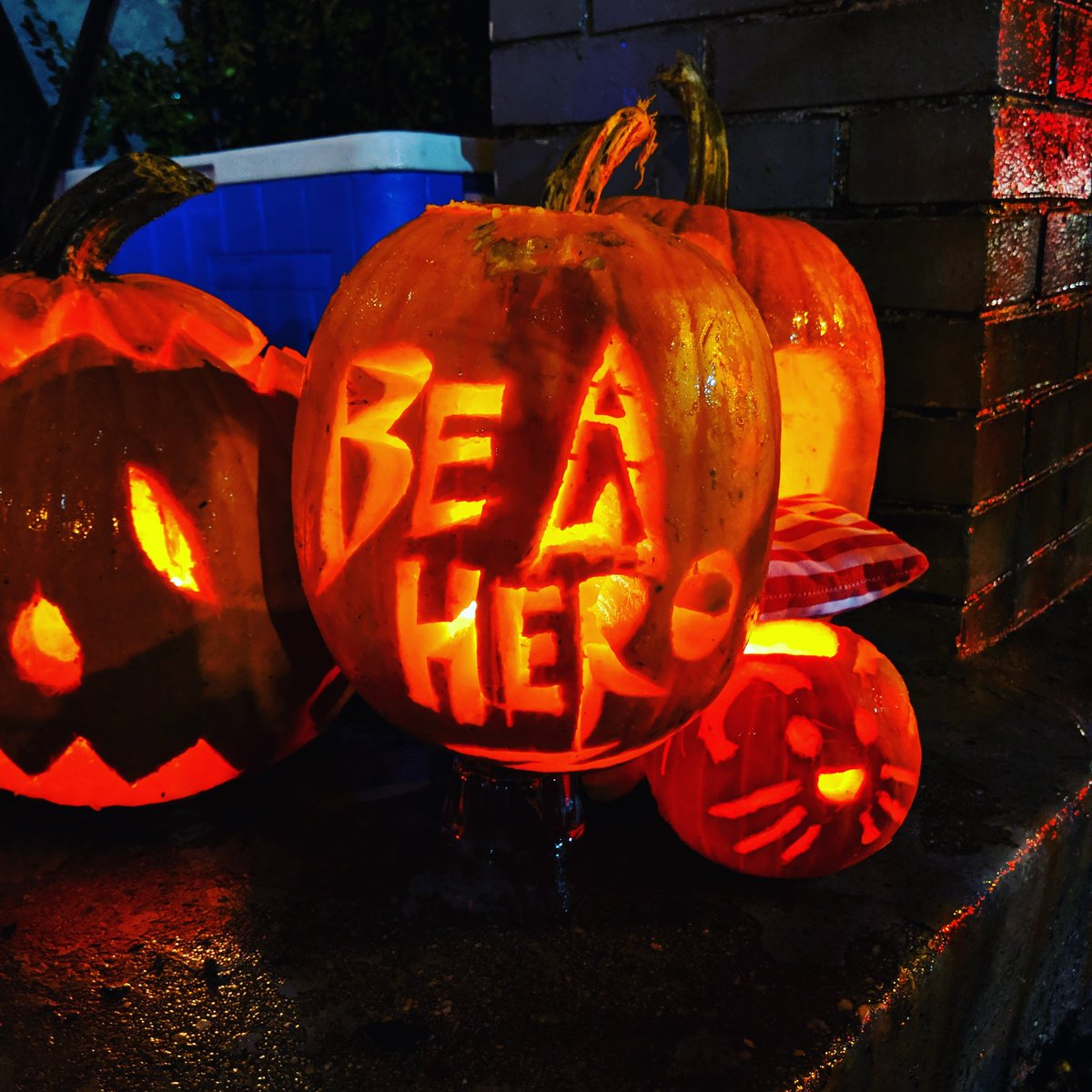 We won the award for best 'on brand' pumpkin!!! #BeAHero