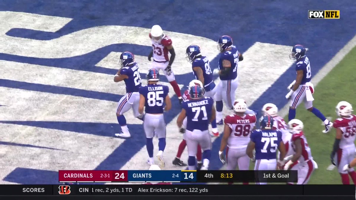 Image for the Tweet beginning: .@SAQUON TOUCHDOWN.  @Giants pull within 3.