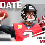 Image for the Tweet beginning: Falcons rule out QB Matt