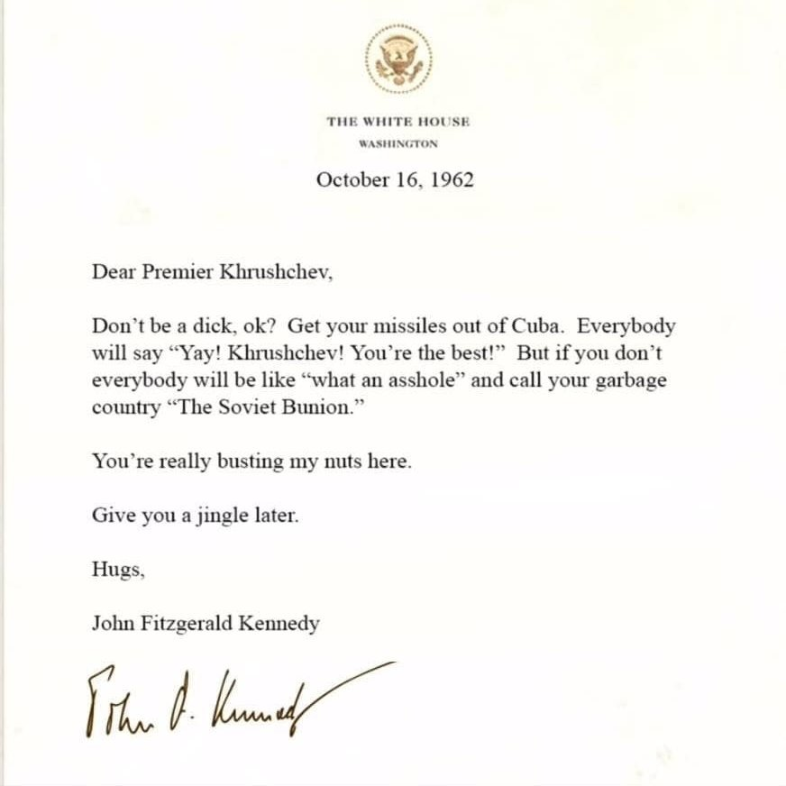 Clinton mocks Trump with parody Kennedy letter