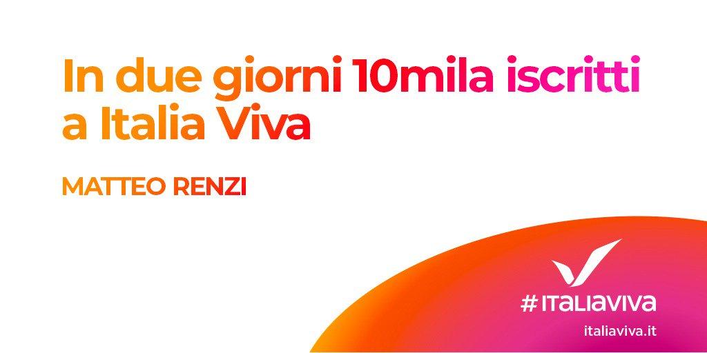 "RT @ItaliaViva: ""In soli due giorni 10mila iscritt..."