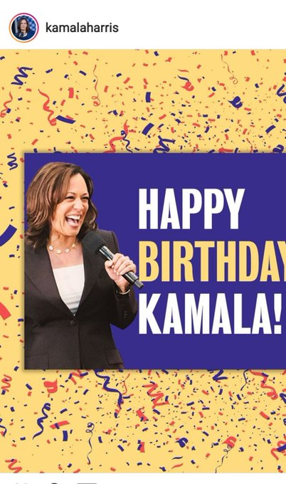 Happy birthday Senator Kamala Harris, Junior Senator of California of the US House of Senate.